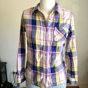 Arizona jeans plaid shirt purple s